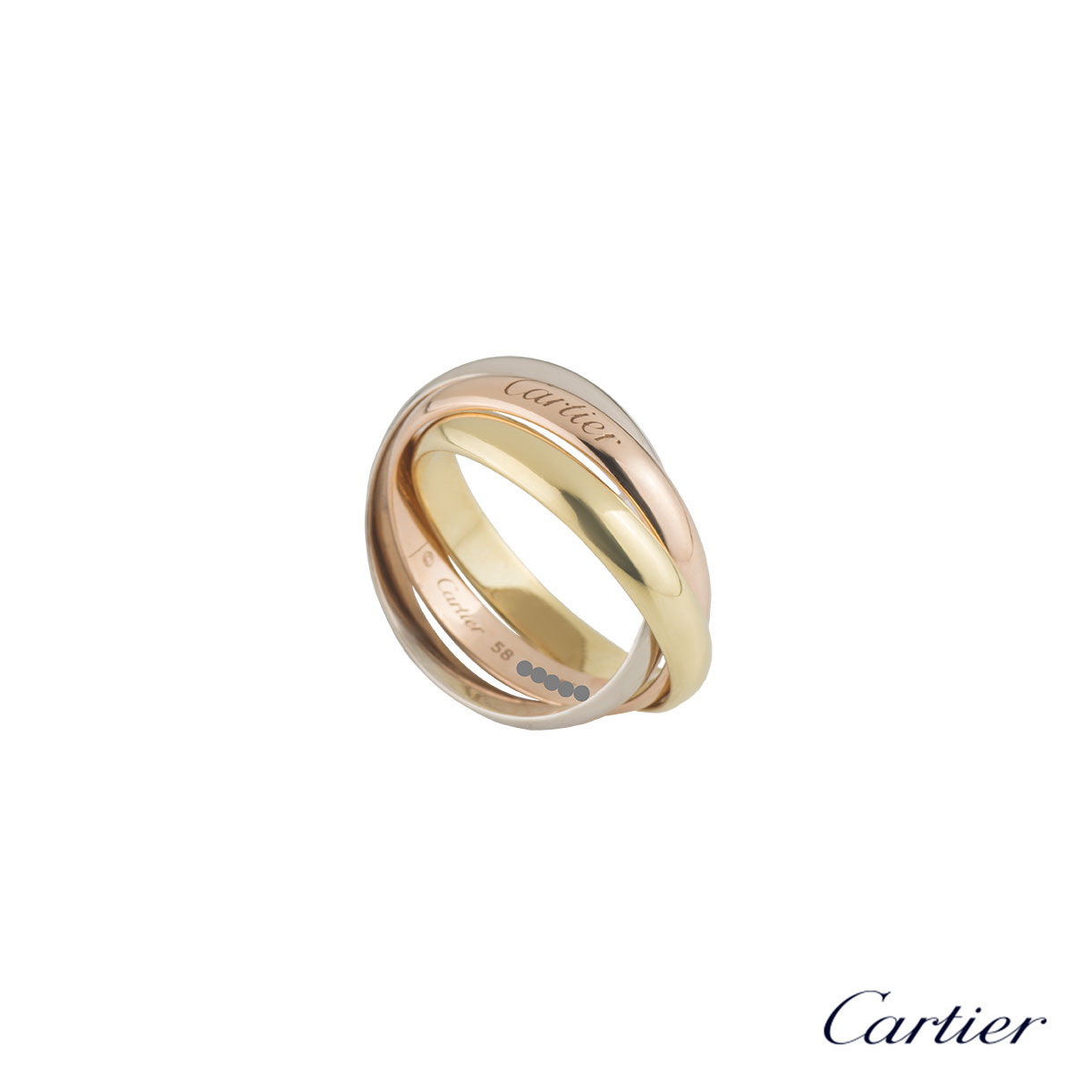 Cartier Tri-Colour Trinity Ring Size 58 B4086158